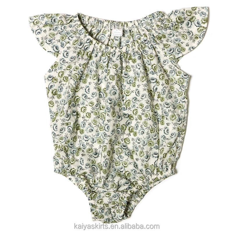 2016 kaiya new floral cotton cycling bodysuit newborn infant rompers bodysuits