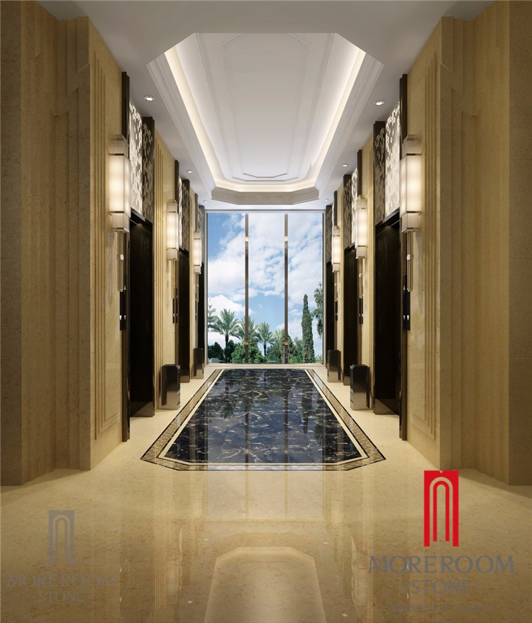 Custom size and shape marble stone tiles in big slab