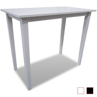 New Bar Table Wood Console Side White / Brown Selectable Dining Kitchen Table