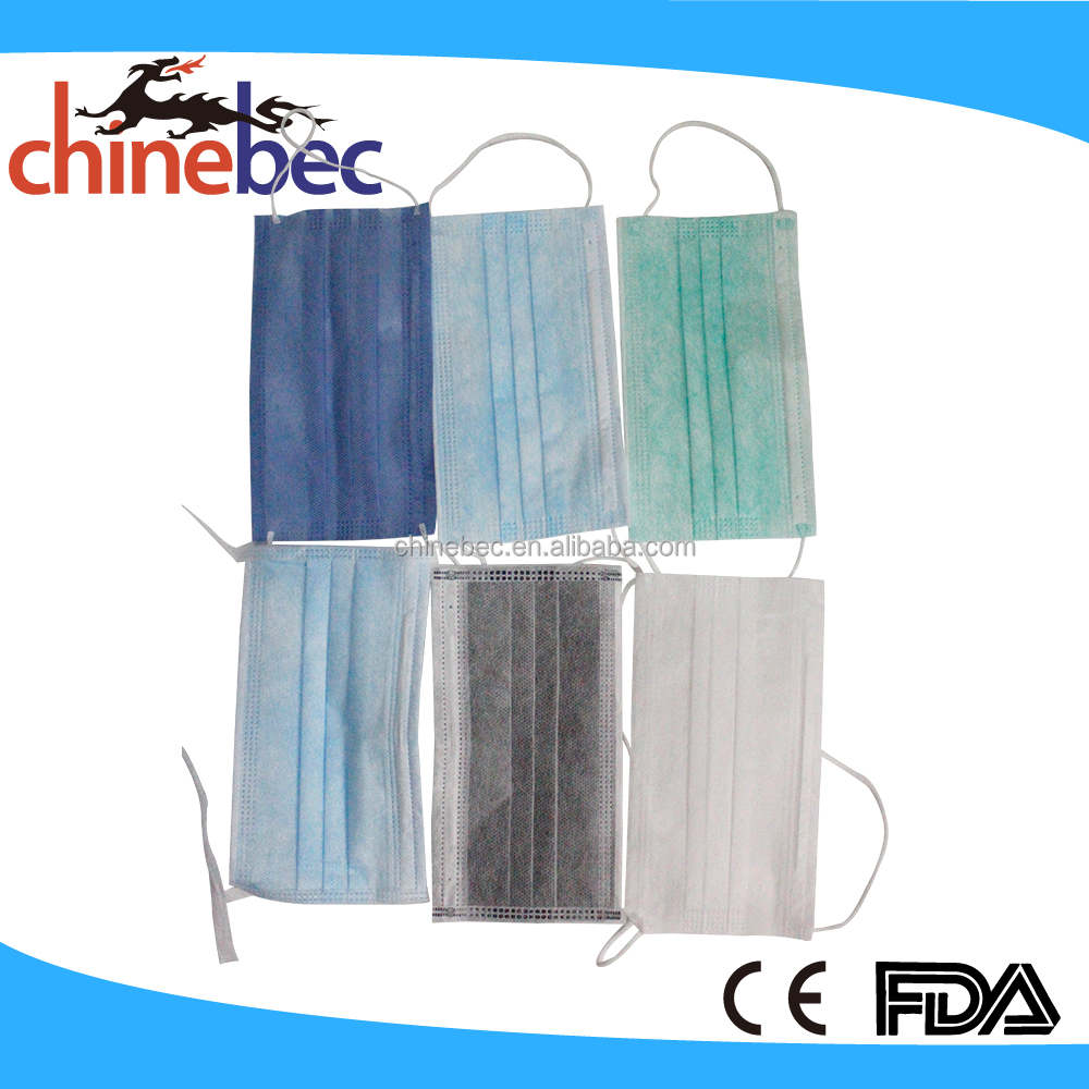 Custom Disposable 3 Ply Earloop Anti Pollution Surgical Face Mask