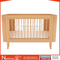 Cubby Plan LMBC-004 New Design 4 in 1 High Quality Wooden Baby Crib