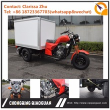 2017 HOT Sale Factory 200cc water cooling gasoline tricycle with colsed cargo box for transport