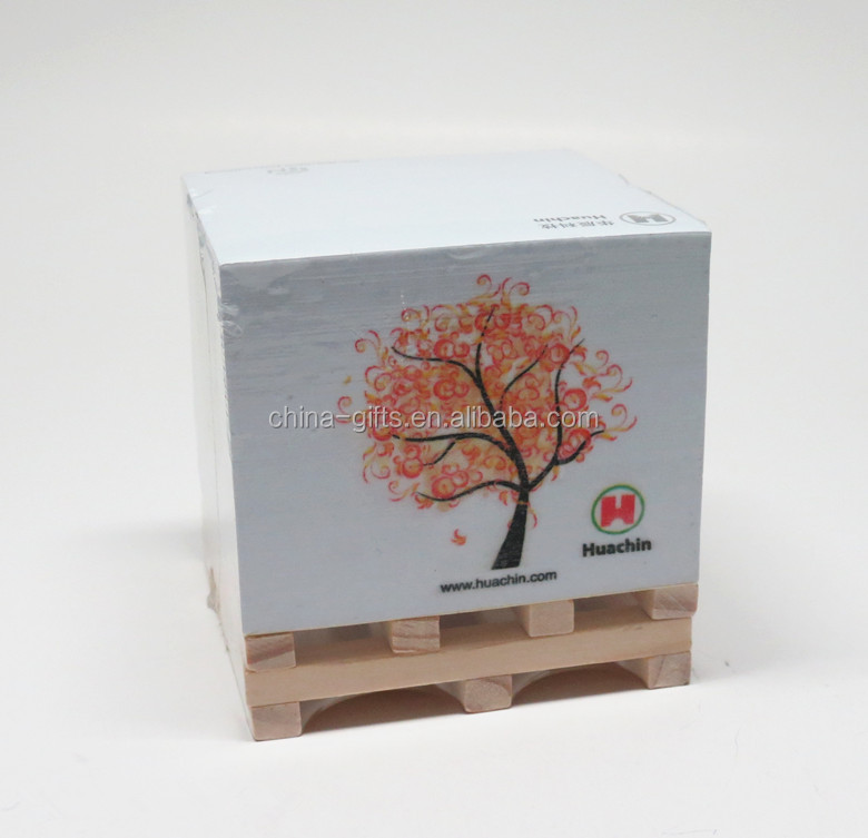memo cube with wooden pallet,memo block with wooden pallet.memo cube with wooden stock
