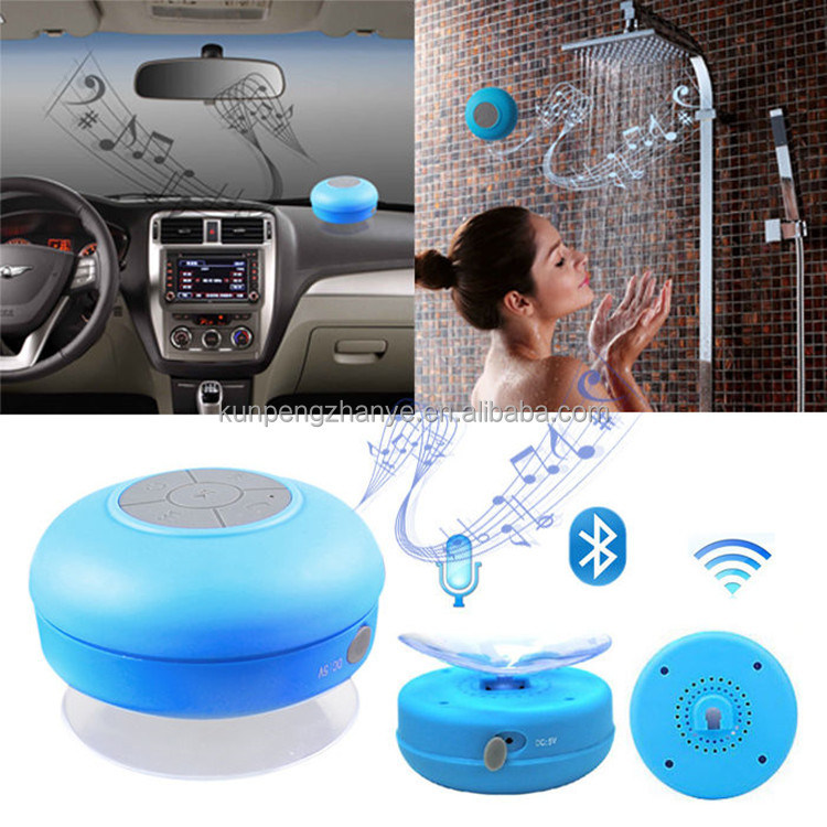Waterproof Wireless Small Bluetooth Speaker 2016 with Silicone Suction Cup