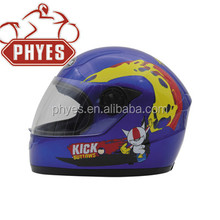 Cute kids full face motorcycle helmet with visor