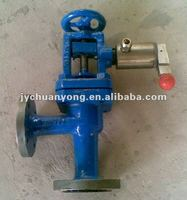cast steel quick closing valve for marine use angle type