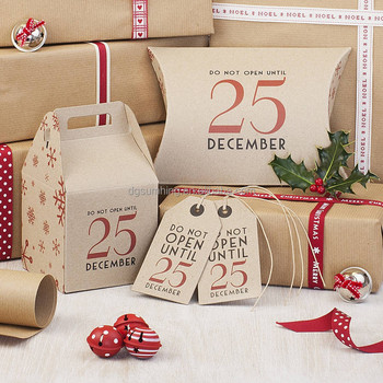 original brown card christmas gift boxes