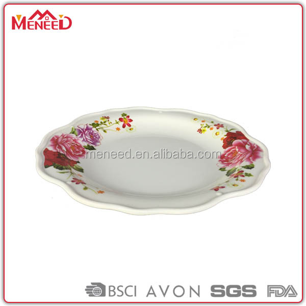 China suppliers wedding used elegant melamine plate chef in dish