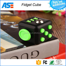 Mixed colors magical cub smooth button desk toy fidget cube as stress reliever Fidget Toy