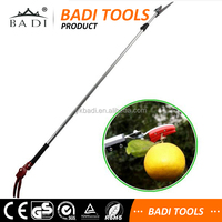 Portable Telescopic Pole reach pruners and trimmers for cutting