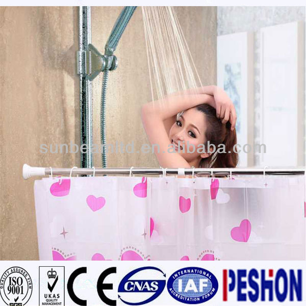 Magical telescopic shower curtain pole
