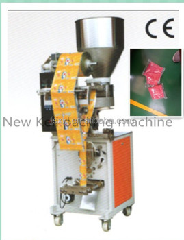 Vertical packing machine for toy small granule packing