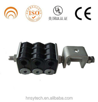 High quanlity high voltage 304 stainless steel and plastic feerder fiber optic cable clamp