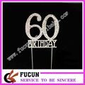 birthday decoration items rhinestone silver number cake topper