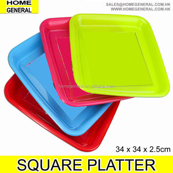 PLASTIC SQUARE PLATTER PLASTIC PLATTER TURKEY PLATTER SERVING PLATTER PARTY PLATTER FRUIT PLATTER FOOD PLATTER HK