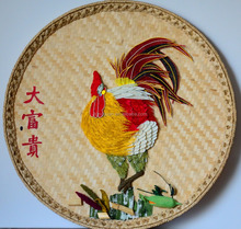 Eco-friendly new disign colorful cock home hotel decoration hanging decoration table diaplay
