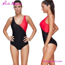 USA Warehouse Delivery Hot Sale Splicing Japanese Woman Sexy One-Piece Swimsuit Sex