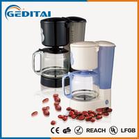 Sales promtion 6 cup espresso plastic coffee machine manufactured in china