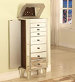 2015 special design mirrored antique jewelry cabinet with drawers