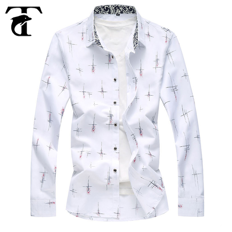 2018 Wholesale High Quality Fancy Printed Design Mens Standard Fit Long Sleeve Casual Men Floral Shirt