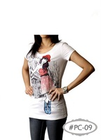 casual lady cotton short sleeve t shirt.