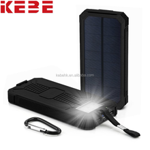 OEM popular good outdoor camping recharge universal portable solar power bank 10000mah