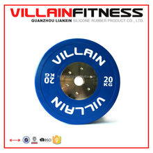 Deluxe Colored Rubber Coated Bumper Plate Weight Plate, brand name plates