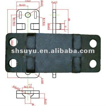 railway steel tie base plate