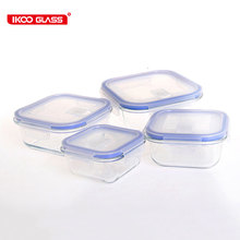 Heat Resistant Glass Food Prep Container with Airtight Vent Lid