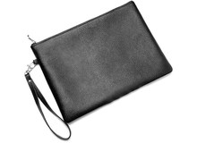 PU Leather Men's Clutch Bag with Wristlet Leather case for iPad Mens men, simple men ipad leather bag