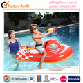 pvc inflatable pool motor rider floating with water gun for kids, inflatable motor pool rider