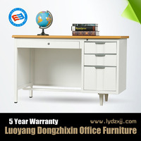 factory wholesale metal office desk with locking drawers