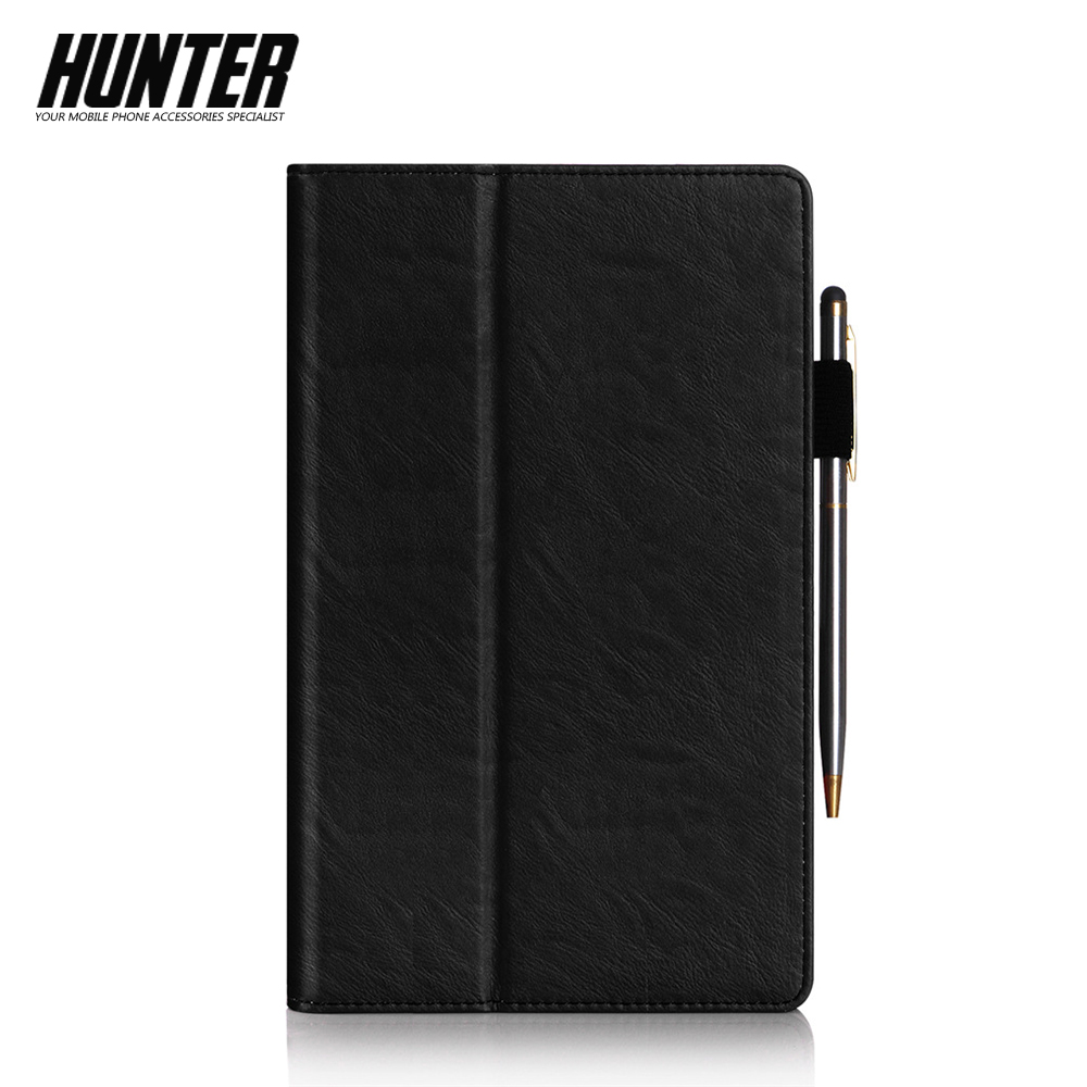 Black PU Leather Wallet Case For 8 Inch Tablet
