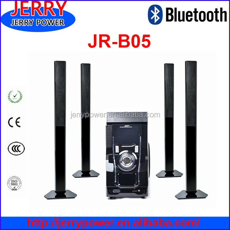 JERRY good price bluetooth speaker 5.1 home theater with remote/USB/SD/FM