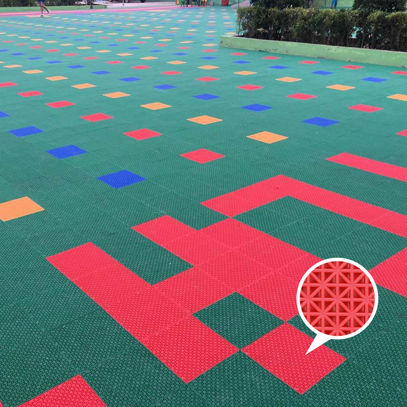 Heavy duty modular interlocking pvc basketball flooring