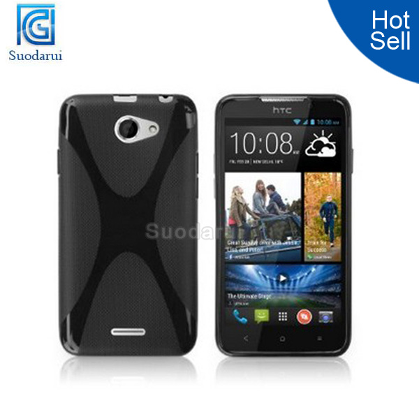 In stock X Line TPU Wave Curve Gel Cover Case for HTC Desire 516