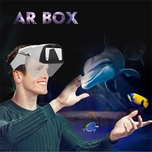 2018 magic 4D ar glasses augmented reality cardboard box