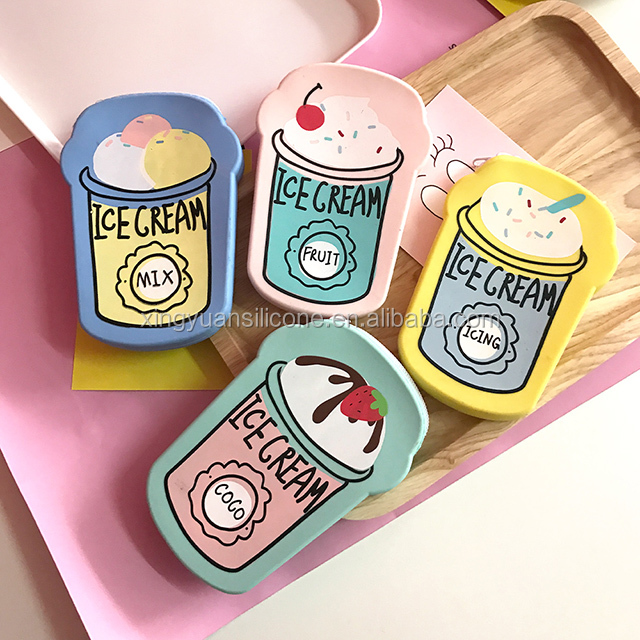 Hight quality hot selling ice cream shaped silicone wallets