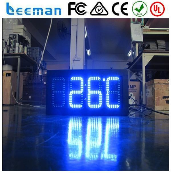 outdoor led clock time date temperature sign board low price induction cooker led wall clock display