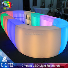 foshan led light furniture factory led bar counter ,led lounge furniture withe led bar chair and led bar counter