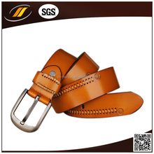 Personality Fashion Genuine Leather Belt Cowskin Layer Belt with Alloy Slide Buckle