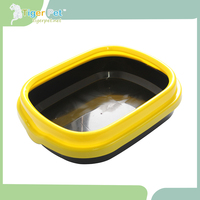 High quality pet accessory plastic designer cat litter tray