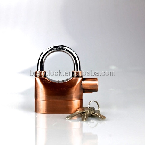 Heavy Duty Siren Alarm Padlock Anti-theft Multi color