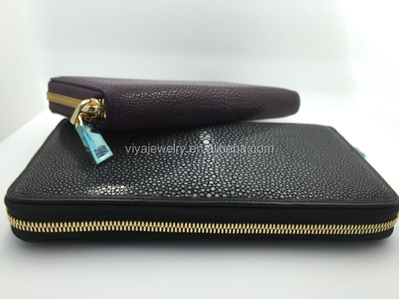 Customized Genuine Stingray Python Ostrich Leather Women Handwallet Top brand leather wallets