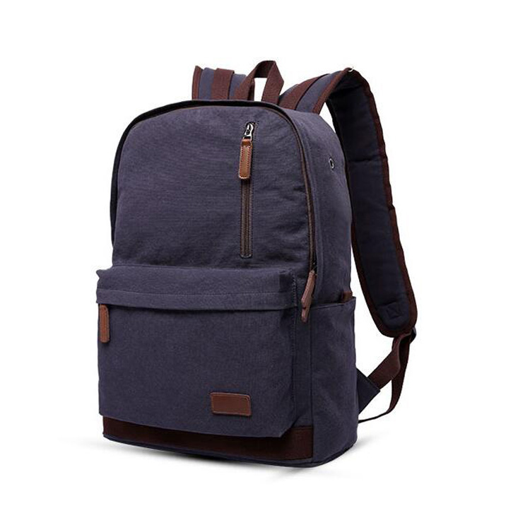 Hot selling products high quality fashion school canvas backpack