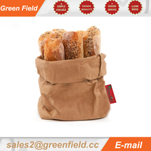 Round washable paper bag, washable Kraft paper bag