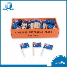 Wholesale Low Price High Quality Wooden Party Food Decoration Flag Toothpick
