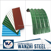 prepainted metal roofing tile galvanized aluminum corrugated sheet