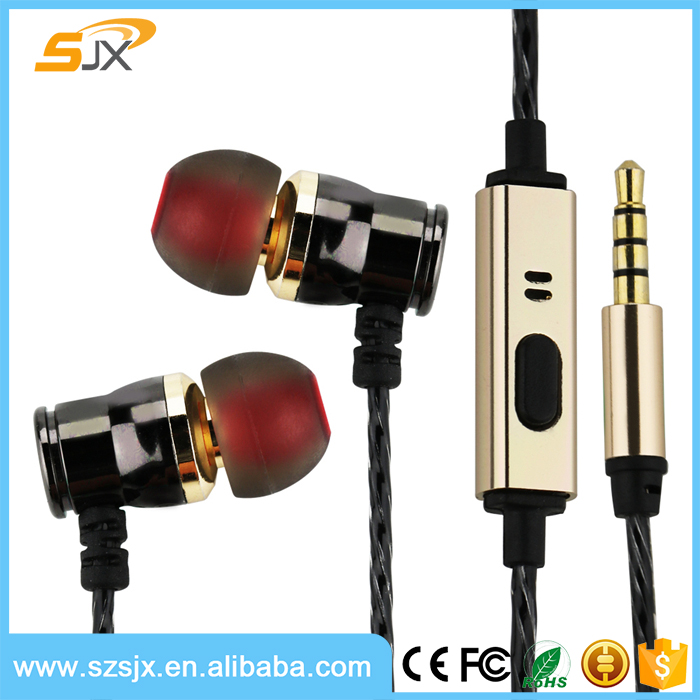 2017 Super bass Epoxy logo earphone with OEM brand for promotion