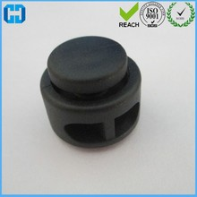 Double-hole Plastic Black Cord Lock for Backpack and Bike Bags